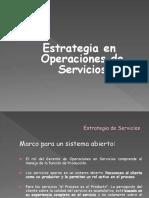Estrategiadeoperaciones en Servicios