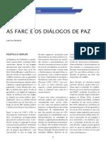 As FARC e os diálogos de Paz