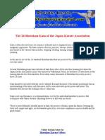 The 26 Kata of the Japan Karate Association Jka