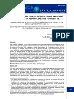 .Rev. GeoUECE - Economia Urbana e Espaços Metropolitanos
