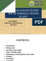 Stirling Engine Solar Power Plant