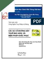 Cac Su Co Duong Day ADSL Va Khac Phuc