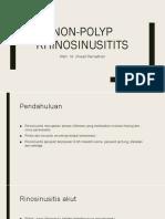 Non-polyp Rhinosinusitits Ppt