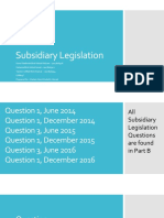 Subsidiary Legislation - Presentation Admin