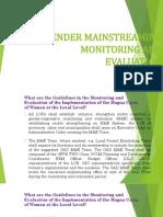 2. GAD Monitoring & Evaluation