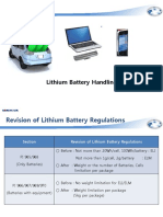 Lithium Battery Handling Regulation
