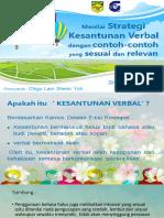GSB 1012- menilai strategi kesantunan verbal dengan contoh-contoh yang sesuai dan relevan