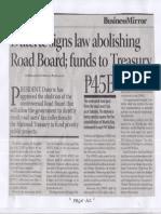 Business Mirror, Mar. 20, 2019, Duterte signs law abolishing Road Board funds to Treasury P45B.pdf