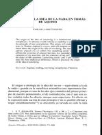 EL ORIGEN DE LA IDEA DE LA NADA EN TOMÁS DE AQUINO - Carlos Llano Cifuentes.pdf