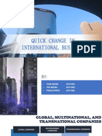 International Business Change Quickly