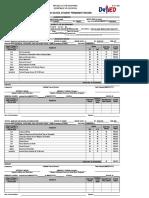 Grade 11 SF 10 Format