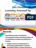 Anecdotal Records 2 Assessment