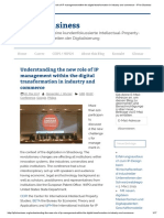 Understanding the New Role of IP Management Within the Digital Transformation in Industry and Commerce - IP for Business