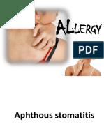 Allergic and Immunologic Disease