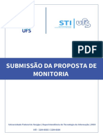 Manual - Submissão Da Proposta de Monitoria
