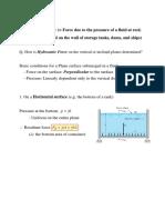 Hydro static Pressure calculations