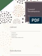 Neonatal thrombocytopenia