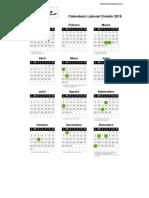 Calendario Laboral Oviedo