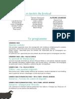 Programme Festival Livres & Musiques 2019 Deauville