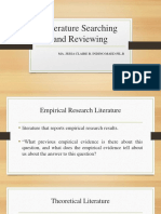 Literature Searching and Reviewing