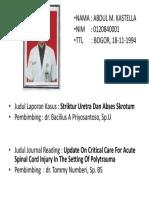 Abdul m.kastella 0120840001 Biodata
