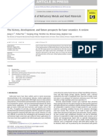 2013_The History Development and Future Prospects for Laser Ceramics_a Review
