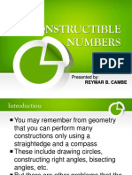 Constructible Numbers by Reymar Cambe