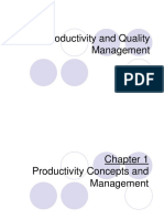 Productivity and QM