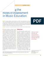 Roles of Assessment in Music Education