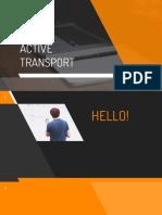 Active Transport Report