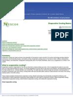 Wescor Evaporative Cooling White Paper