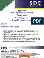 Schopmeyer Karl Pywbem Overview for SMI Client Developers
