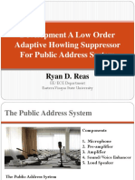 Development a Low Order Adaptive Howling Suppressor for Public Address System