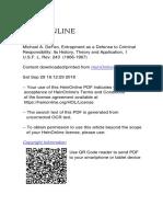 MichaelADeFeoEntrapmentas.pdf