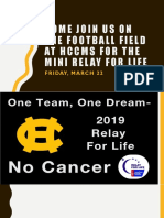 Mini Relay for Life Ad - Ppt for Cafeteria