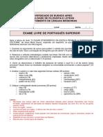 Examen superior Portugues FFyL UBA