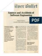 No Silver Bullet, Essence and Accidents of Software Engineering