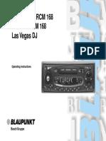 Saint Tropez RCM 168 Manual