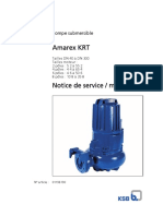 Notice pompe KSB  Amarex   Krt