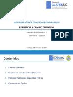 SEGURIDAD HÍDRICA COMPROMISO COMPARTIDO // RESILIENCIA Y CAMBIO CLIMÁTICO
