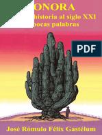 Félix Gastélum José Rómulo Sonora de La Prehistoria Al Siglo XXI en Pocas Palabras(1)
