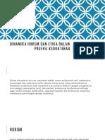Dinamika Hukum Dan Etika Dalam Profesi Kedokteran - Tutor d3