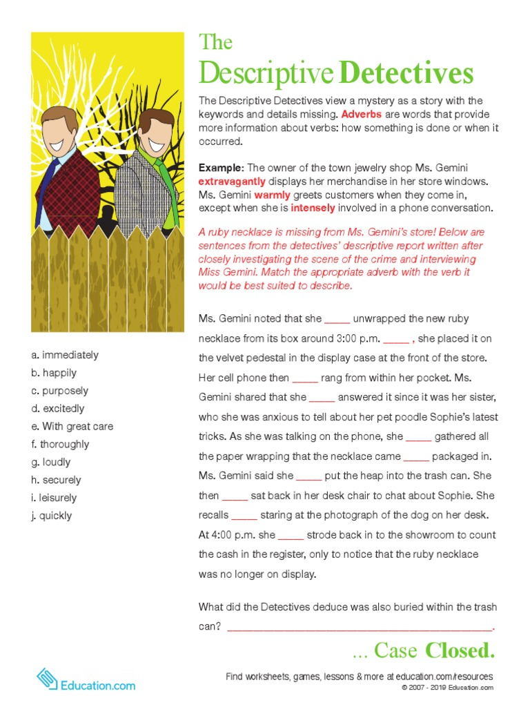 Adverb Detectives to the Rescue | Syntax | Grammar