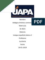 Tarea 3 Lengua Española 2