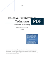 Functional Test Coverage Techniques