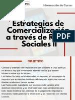 Curso Estrategias de Comercialización a Través de Redes Sociales II