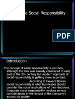 Social Corporate Responsibility