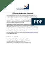 pedagogy questionnaire
