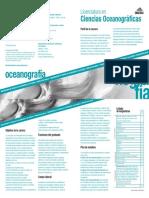 Plan de estudios - Oceanografía
