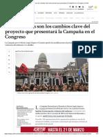 Cuáles Son Los Cambios Clave Del Proyecto Que Presentará La Campaña en El Congreso _ Perfil